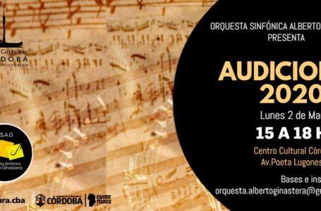 Música: Audiciones OSAG 2020