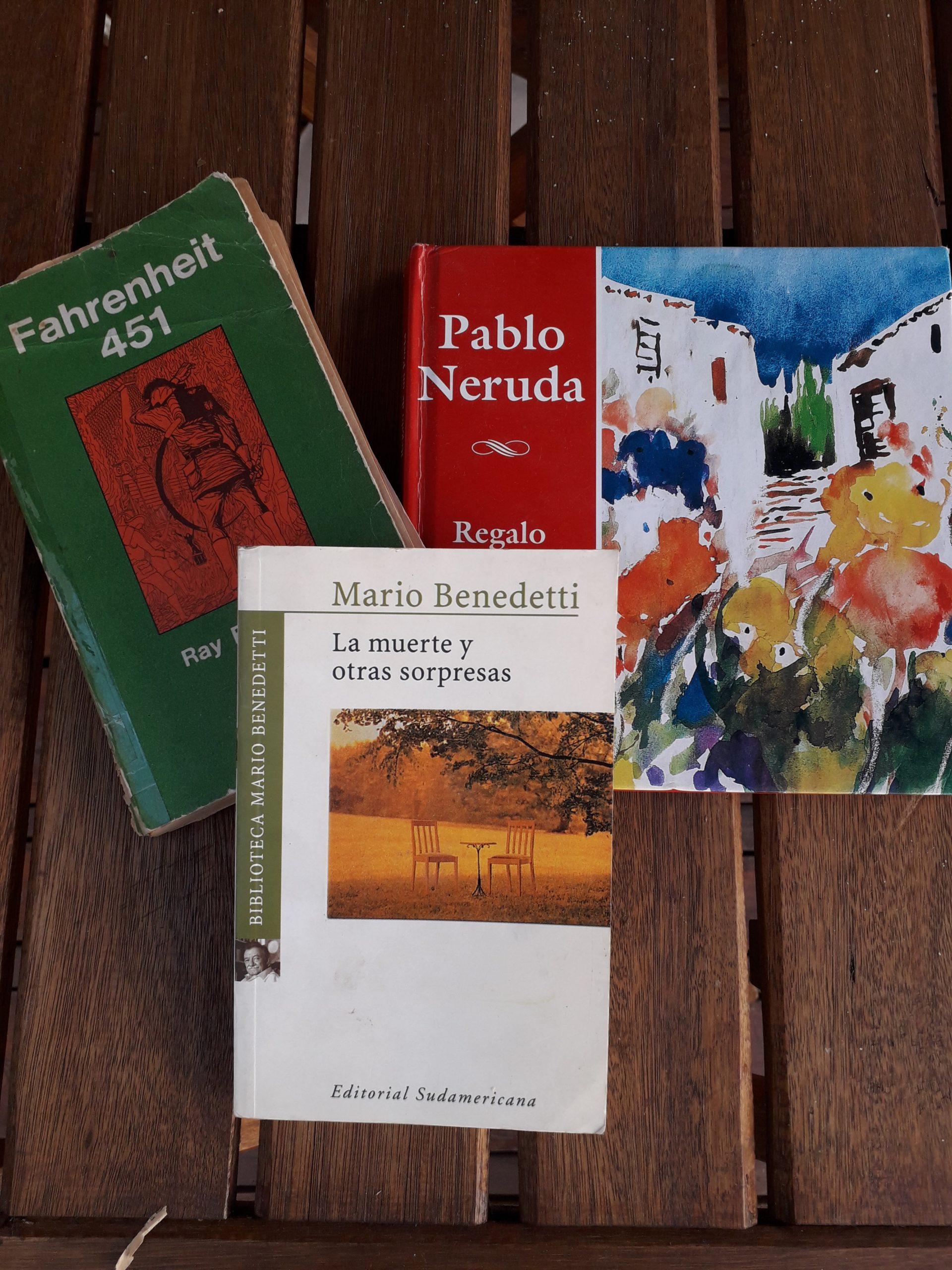 Benedetti, Bradbury y Neruda. Tres clásicos para (re)leer en cuarentena
