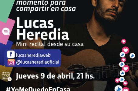 Agenda virtual: Mini recital de Lucas Heredia