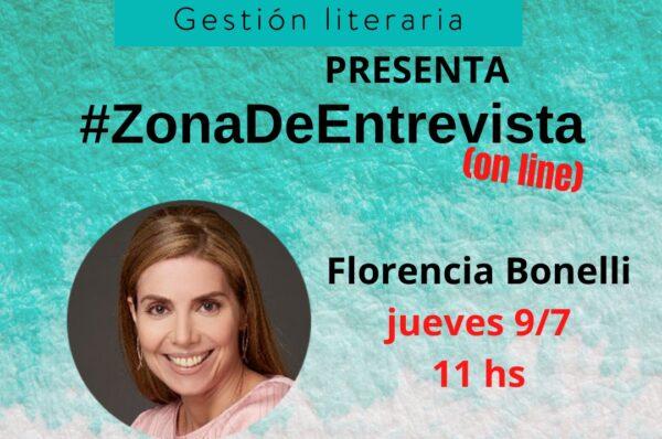Zona de entrevista. Charla con Florencia Bonelli